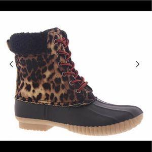 Report Ulrich Snow Boots, Leopard, Womens 6.5 M.